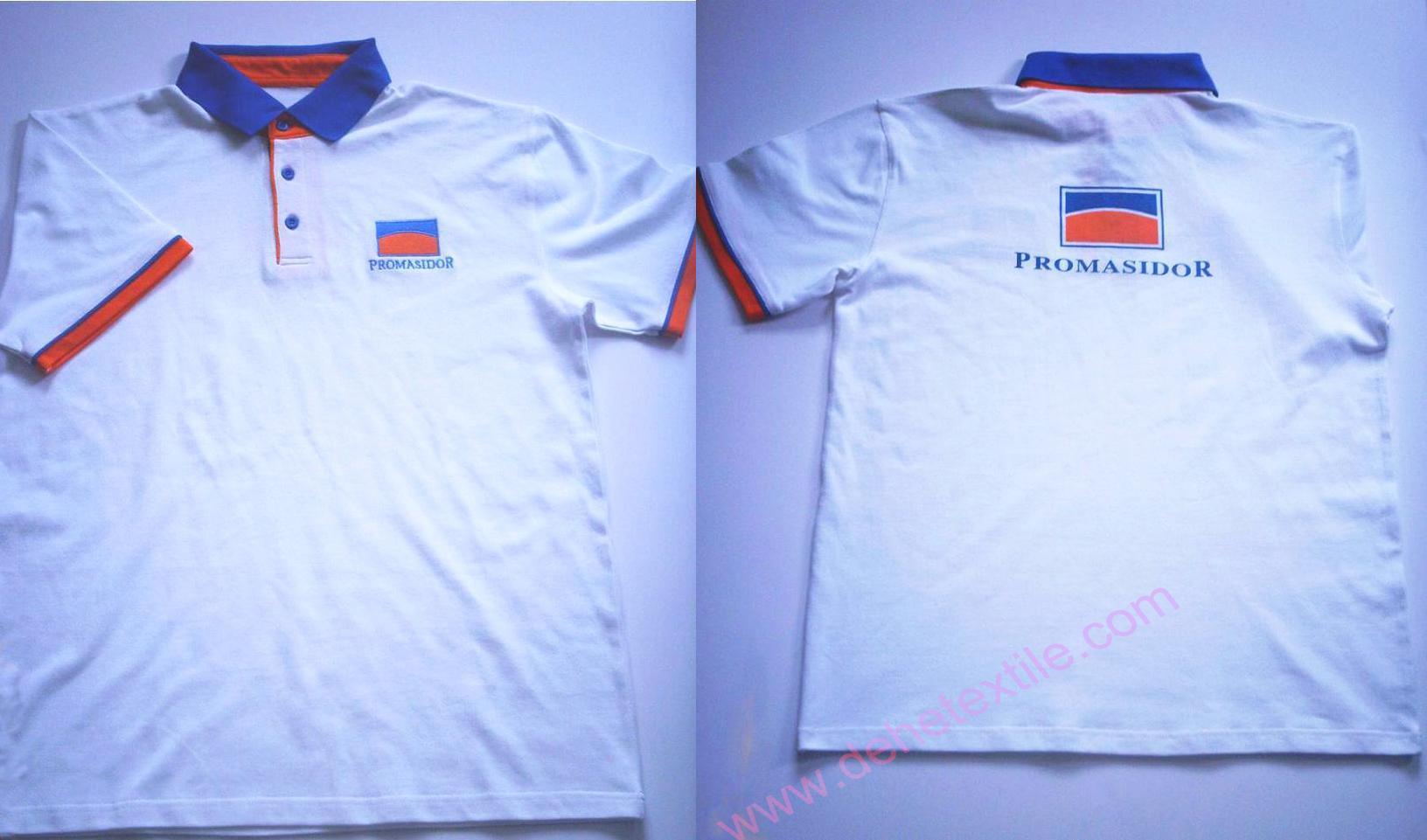 High Quality Customized logo 250gsm Cotton Fabric School Uniform Polo Shirt  2
