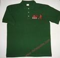 High Quality Customized logo 250gsm Cotton Fabric School Uniform Polo Shirt  3