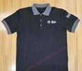 High Quality Customized logo 250gsm Cotton Fabric School Uniform Polo Shirt  5