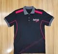 High Quality Customized logo 250gsm Cotton Fabric School Uniform Polo Shirt  6