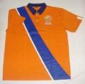 High Quality Customized logo 250gsm Cotton Fabric School Uniform Polo Shirt  7