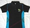High Quality Customized logo 250gsm Cotton Fabric School Uniform Polo Shirt  8