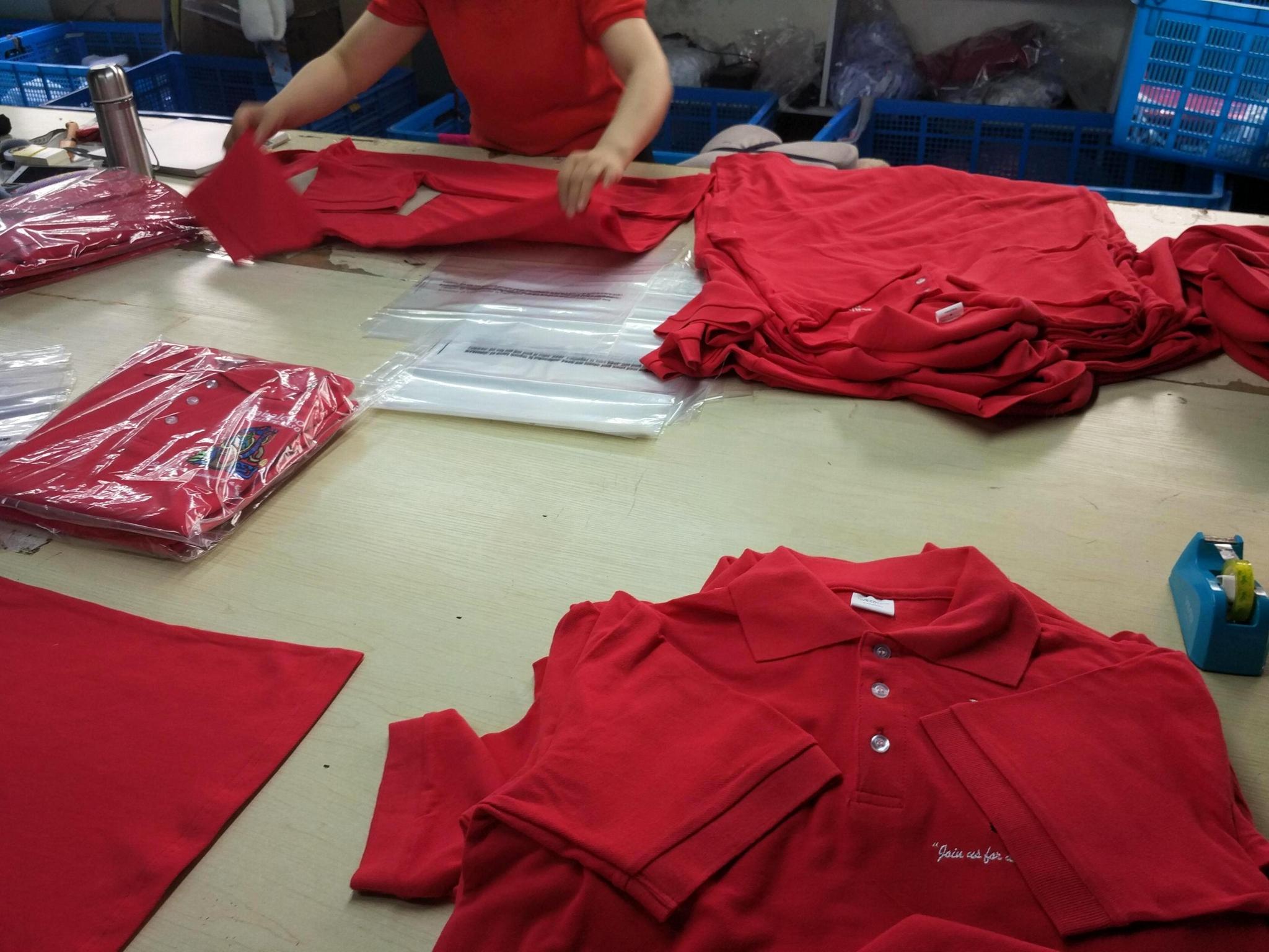 High Quality Customized logo 250gsm Cotton Fabric School Uniform Polo Shirt  13