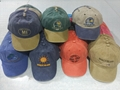 Printing Pigment Wash Embroidery Cotton Baseball Sport Gorros Cap