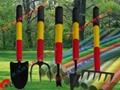 Fiberglass handles in gardening hoes