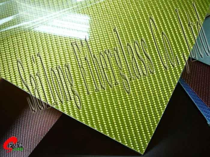 Golden fiberglass sheets