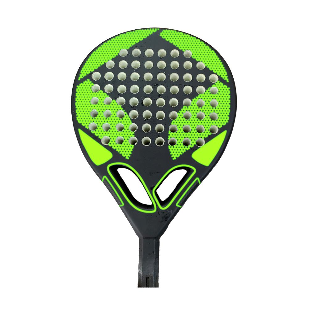 tennis paddle racket with fiber glass
