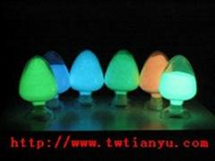 供應發光顏料夜光粉(黃綠光)