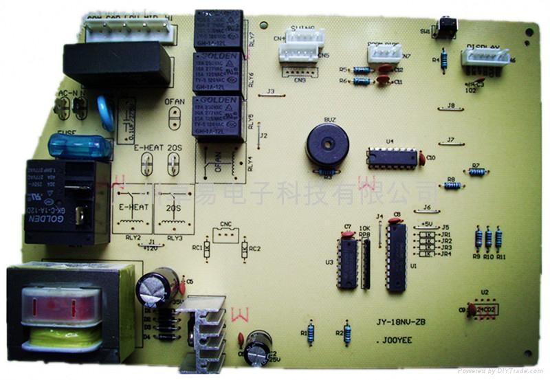 智能空調控制板中間圓屏冷暖 2