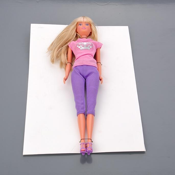 包裝膠釘 芭比娃娃包裝固定膠帶 3