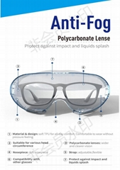 CE Medical anti-fog safety goggles