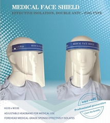 Anti-corona virus protective medical face shield