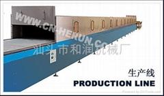 Vacuum continuous casting production line