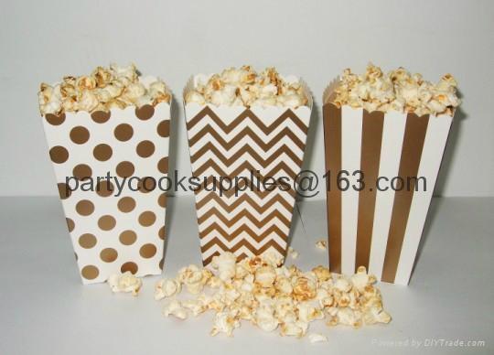 Wedding Favor Popcorn Box Candy Food Bags  1