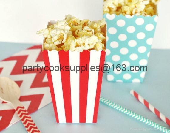 Wedding Favor Popcorn Box Candy Food Bags  2