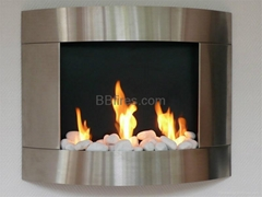 Stainless steel bio-ethanol fireplaces