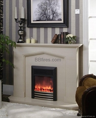 Stock Marble fireplace set