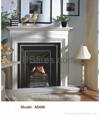(现货)白色木质壁炉套装(炉+架)