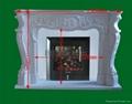 高級大理石壁爐架 9