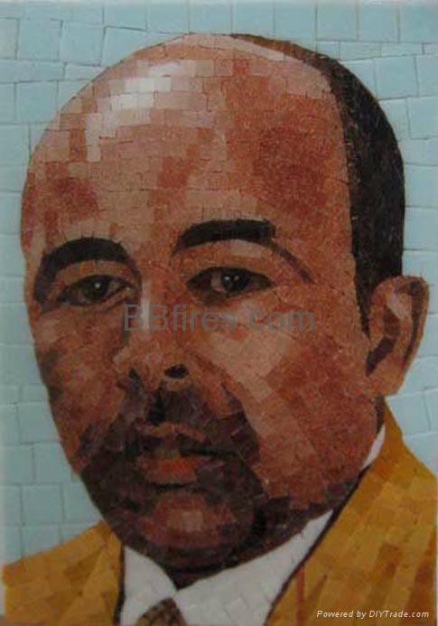 马赛克人物墙画