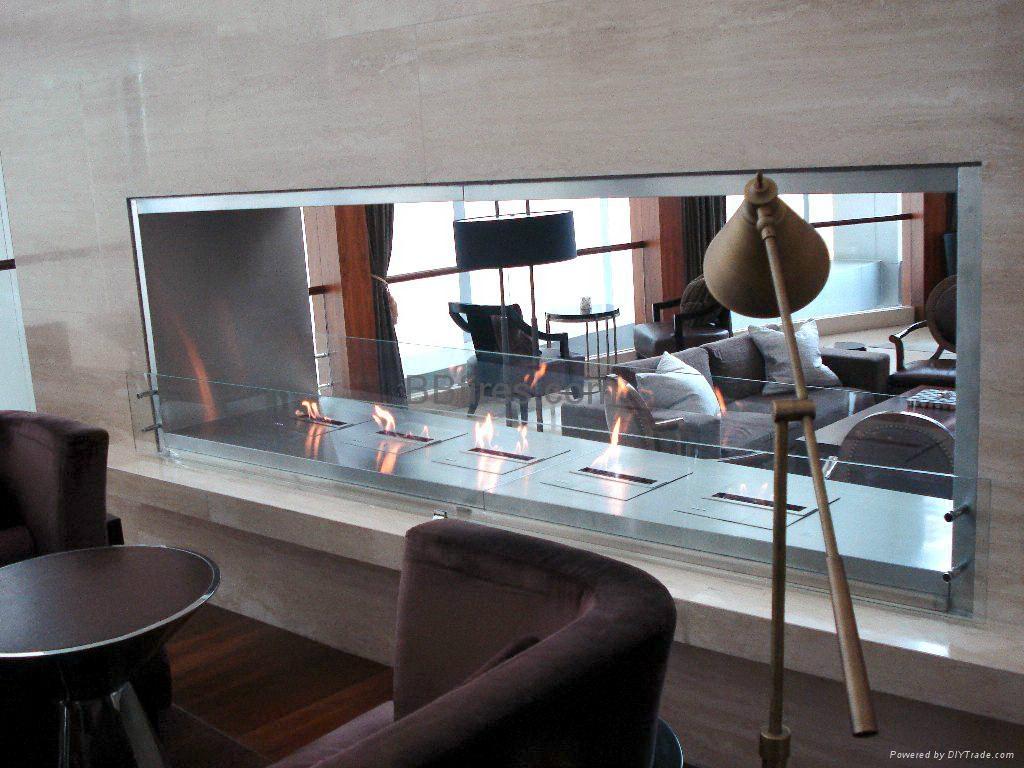 深圳君悦酒店智能酒精壁炉案例