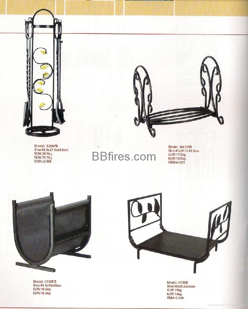 Fireplace Accessories Metal fireplace 6