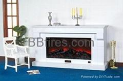 Wooden fireplace set