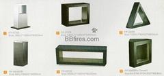Stock Manual Bio fireplace
