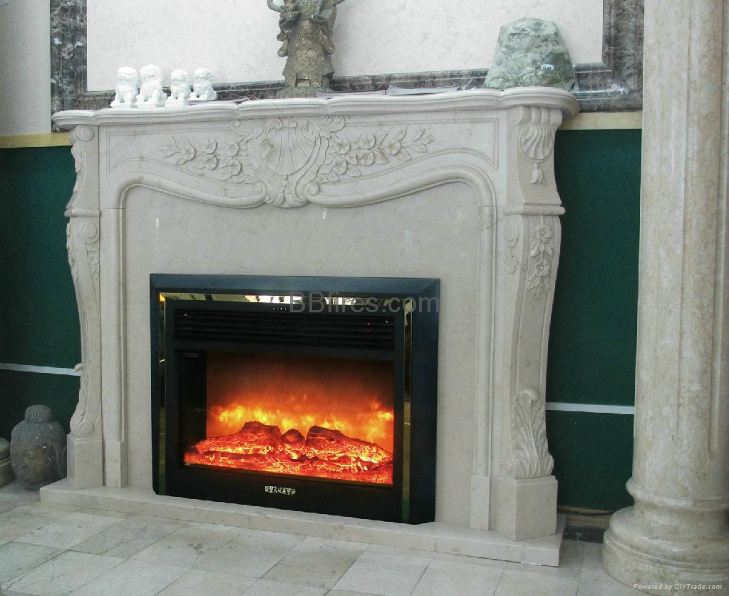 Custom made fireplace mantel & heater - TH135-26ZT - BB ...
