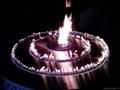智能圆形酒精壁炉