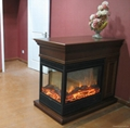 Three faces electric fireplace  Job reference