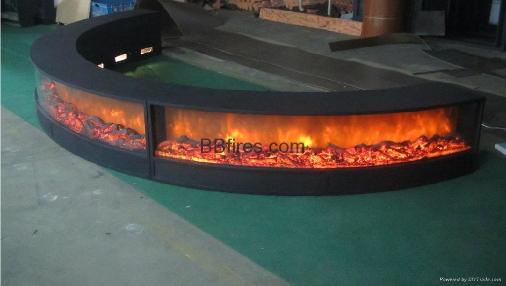 弧形电壁炉
