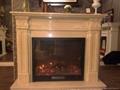 白沙米黄壁炉架和壁炉 13
