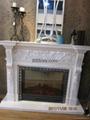 白色木壁炉组合 18