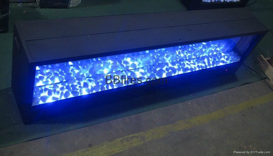 定制蓝色电壁炉