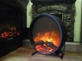 自定圆形壁炉
