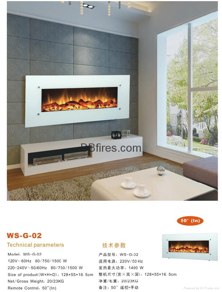 Tailor made Wall mount fireplace