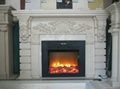 TH fireplace (mantel and heater)