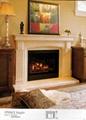 White Limestone mantels and fireplace