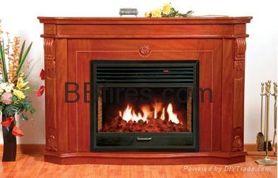 (现货)木质装饰壁炉+火炉 11