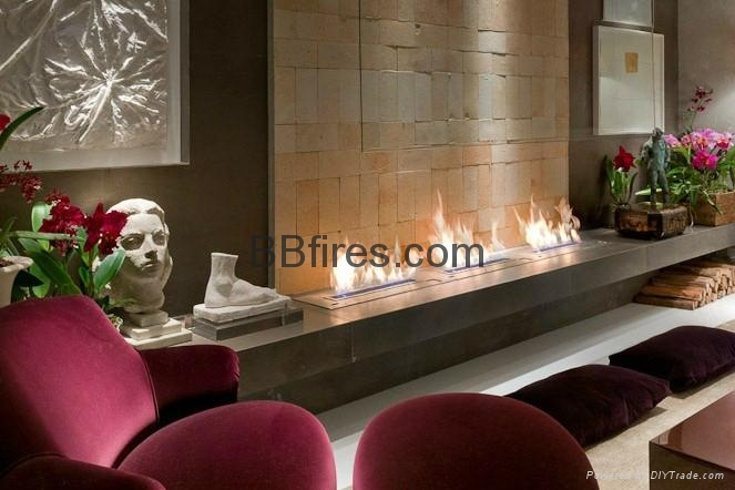 Intelligent Bio Ethanol fireplaces at BOC Bldg. 14