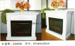 Whole set of fireplace (Wooden Mantel+heater)