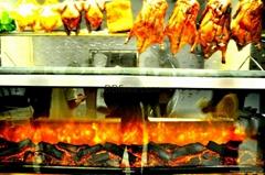 味皇港式小厨连锁店壁炉烤鸭案例