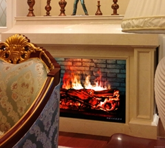 3 Dimension electric fireplace with heat