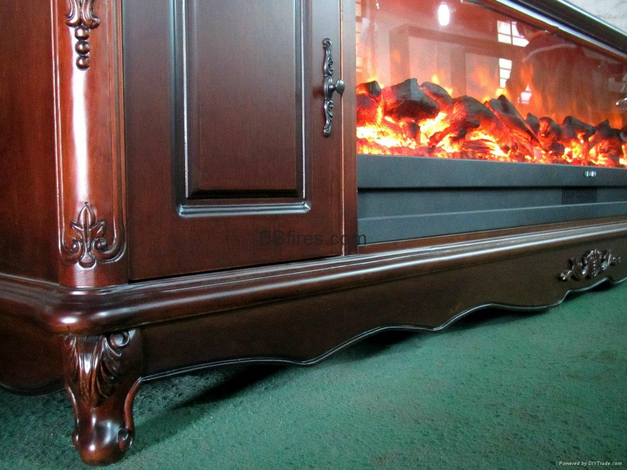 Fireplace and cabinet set