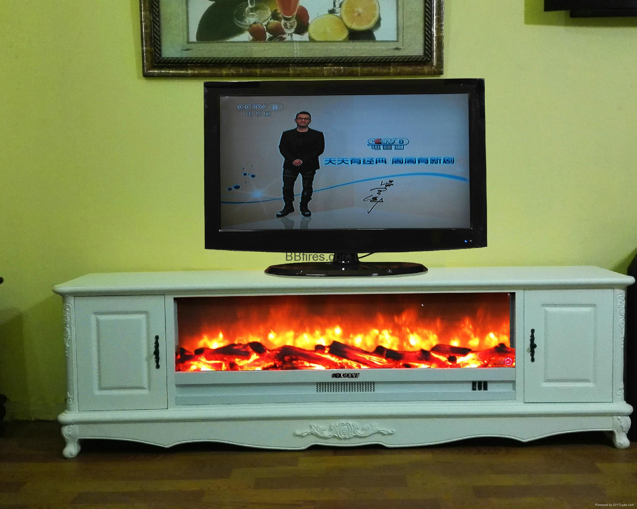New televison cabinet fireplace set 4