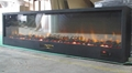 Black pebbles electric fireplace