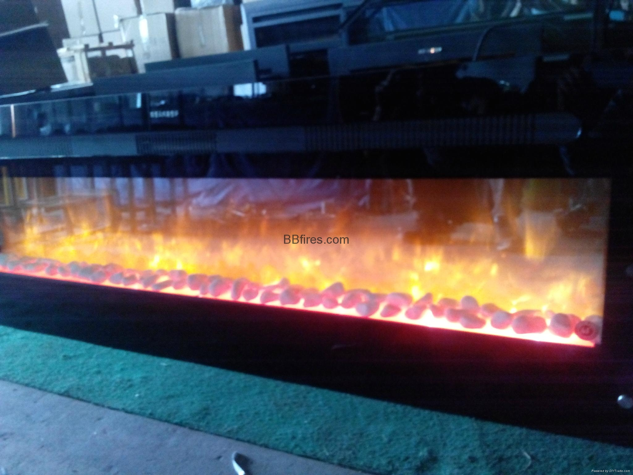 custom made and pebbles electric fireplace heater cm008 bb