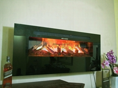 Three dimension Wall mount electric fireplace