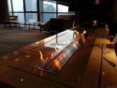 深圳四季酒店总统套房智能酒精壁炉案例